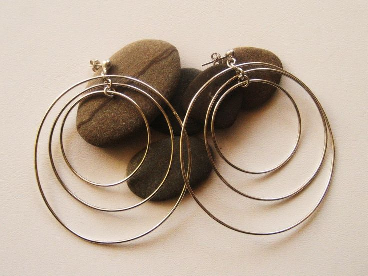 A personal favourite from my Etsy shop https://www.etsy.com/listing/228720233/silver-hoopsthree-dimension-hoops