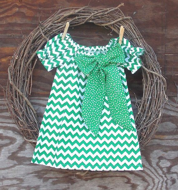 Mila NEEDS this Girls Chevron Dress Green Chevron Dress Girls by SouthernSister2, $30.00