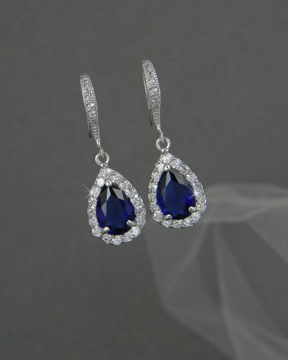 Hey, I found this really awesome Etsy listing at https://www.etsy.com/listing/129289120/crystal-bridal-earrings-dark-sapphire
