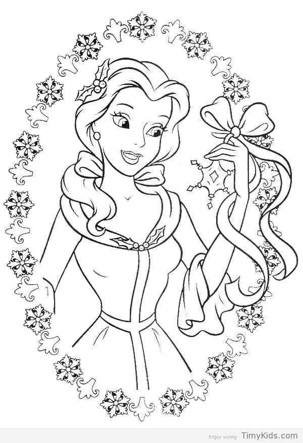 Princess Belle Coloring Page Youngandtae Com In 2020 Disney Princess Coloring Pages Rapunzel Coloring Pages Cinderella Coloring Pages