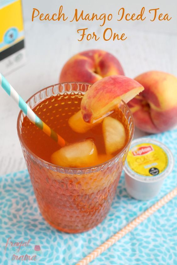 Make a refreshing, fruity flavored iced tea in minutes with this Peach Mango Iced Tea for One.