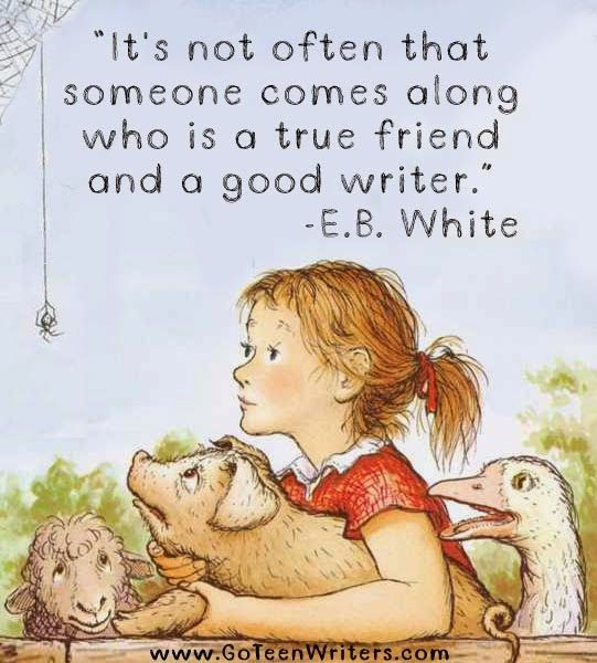 E.B. White. I always loved this book and the auther of it when I was little, I still do!
