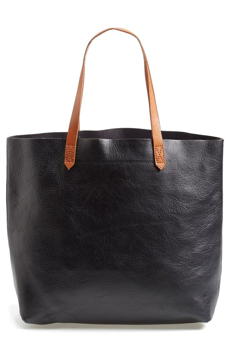 All of the essentials are going in this spacious Madewell leather tote this autumn. / @nordstrom