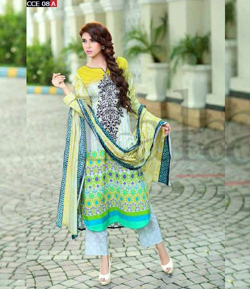 Lala Classic Cotton Embroidered lawn Suits Vol 1. CCE_08A