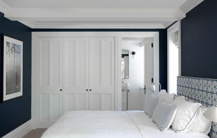 Bedroom Interior Design — Justine Hugh-Jones, Interior design White & Navy Blue
