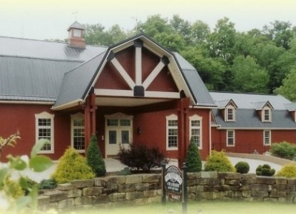 """The Barn Inn Bed & Breakfast in Millersburg, OH (Amish country). Cute place for future """"romantic getaway"""". PS: Do those happen in real life??"""