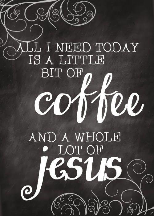 coffee and Jesus - free printable postcard