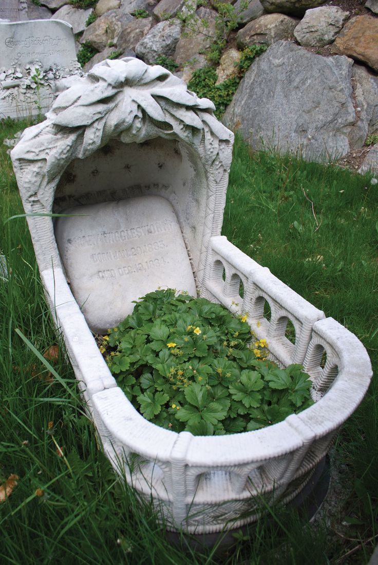 The Wigglesworth cradle and other monuments to children serve as a reminder of how common child mortality was during the nineteenth century.  Karen Marlene Larsen