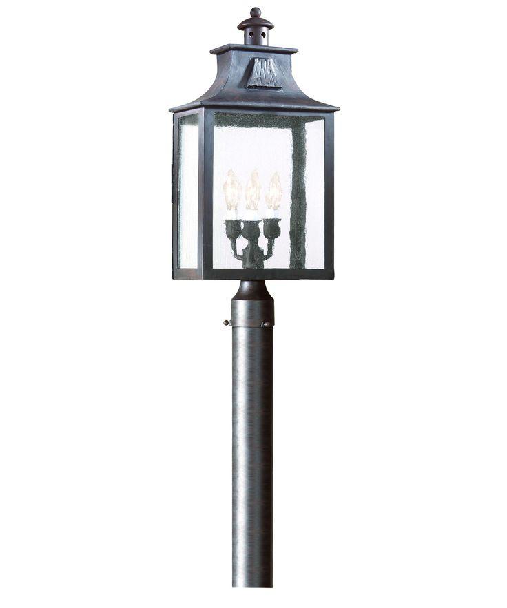 Troy Lighting P9006 Newton 11 Inch Wide 3 Light Outdoor Post Lamp | Capitol Lighting 1-800lighting.com