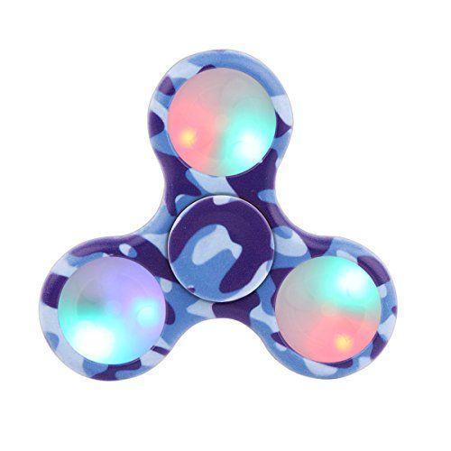 Tepoinn Fidget Spinner Tri Fidget Hand Spinner with Ultra Fast Hybrid Ceramic Bearing Finger Toy (Camouflage blue)