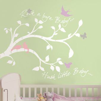 Rock-A-Bye Branches Giant Wall Decals