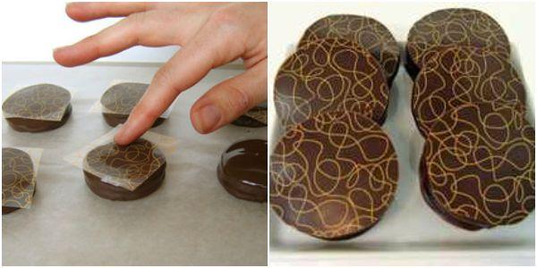 Transfer para chocolate