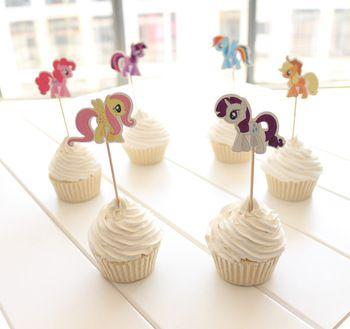 24 шт. симпатичные магия пони кекс топпер выборка твайлайт пони свадебные украшения ну вечеринку сувениры