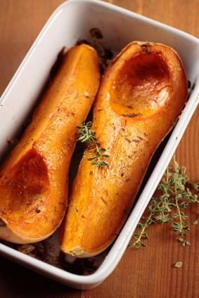 Roasted Squash with Thyme - Healthy Thanksgiving Side Dish Recipe - Something to do with all those squash that grew this year!