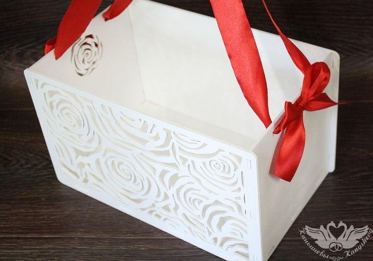 Подарочная коробка-сумка с розами
