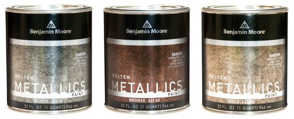A Metal-Like Paint from Benjamin Moore - this sounds like it has potential