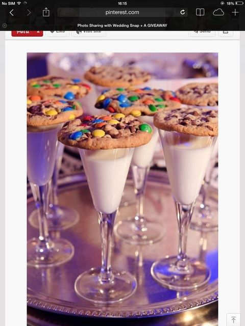 Milk and cookies!  See more party ideas at CatchMyParty.com!