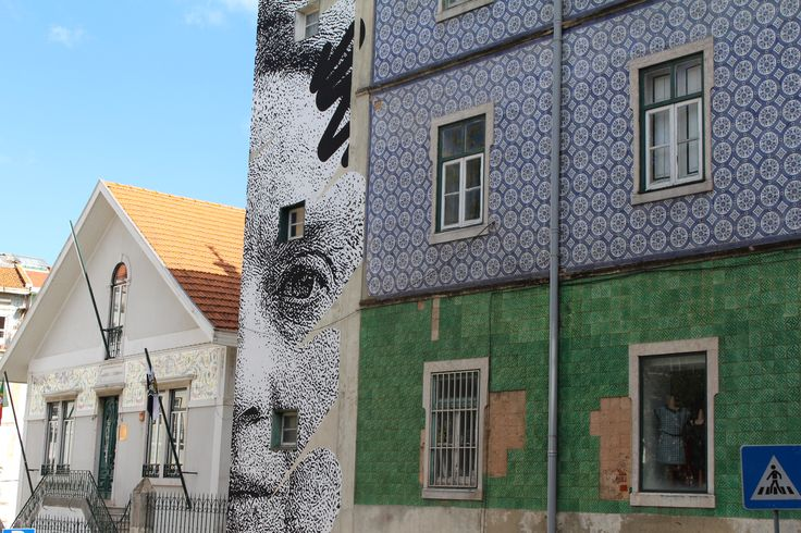 Old meets new in Lisbon / Portugal. July 2014
