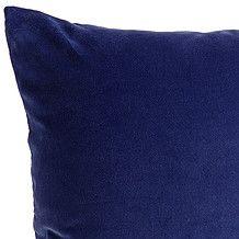 Cotton Velvet Cushion 60 x 60cm - Navy