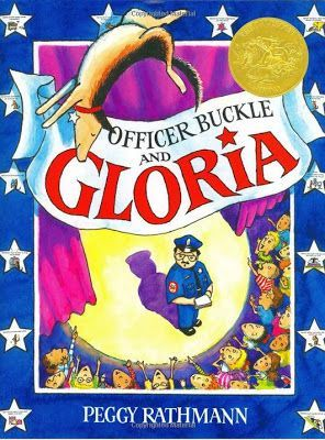 The Picture Book Teacher's Edition: Officer Buckle and Gloria by Peggy Rathmann. She lists some great ideas to use with this book.