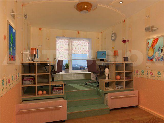 Дизайн детской для разнополых детей, зонирование, фото примеры, видео | Все о дизайне и ремонте дома