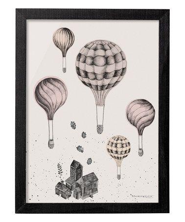 Balloon Framed Wall Art #zulily #zulilyfinds