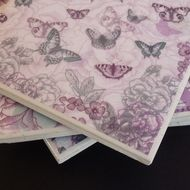 Butterfly patterned tile coasters - £10