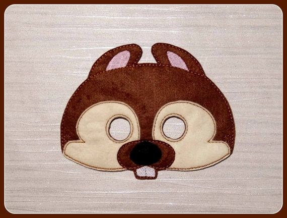 Woodland Squirrel Animal Mask for Fancy Dress Up Pretend Play Costume Birthday Halloween Party Celebration