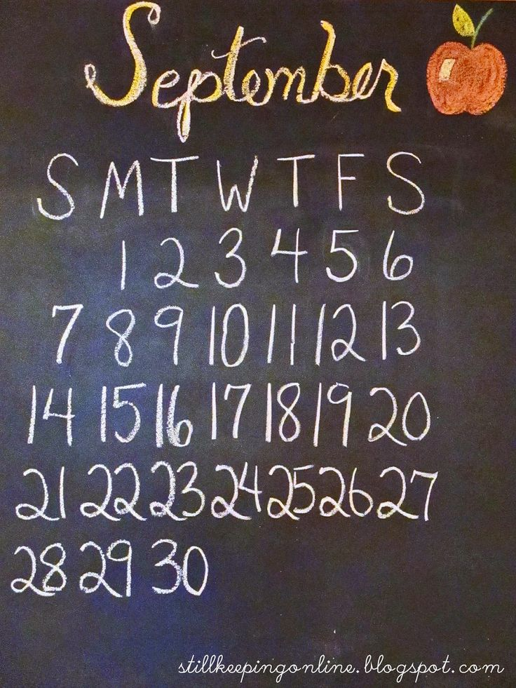 November Chalkboard Calendar Ideas : Best chalkboard calendar fall september october