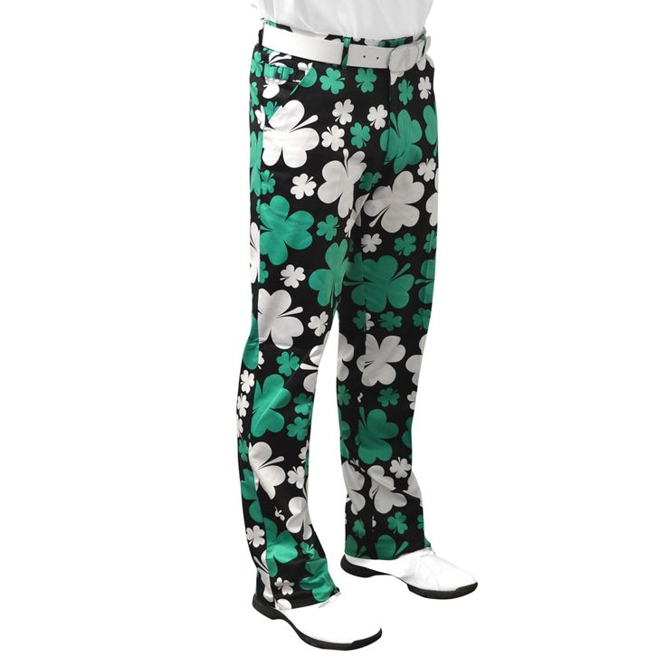 If the golfer you know is always complaining about how unlucky they have been on the golf course (& you are bored with their excuses!) then treat them to some funky shamrock golf trousers. They come with added luck so there can be no more excuses about getting unlucky bounces!