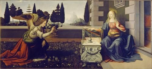 Итальянское искусство и живопись - «Благовещение» Леонардо да Винчи