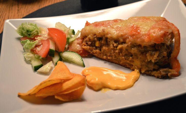 Varm tacosmörgåstårta | Therése mat & bak