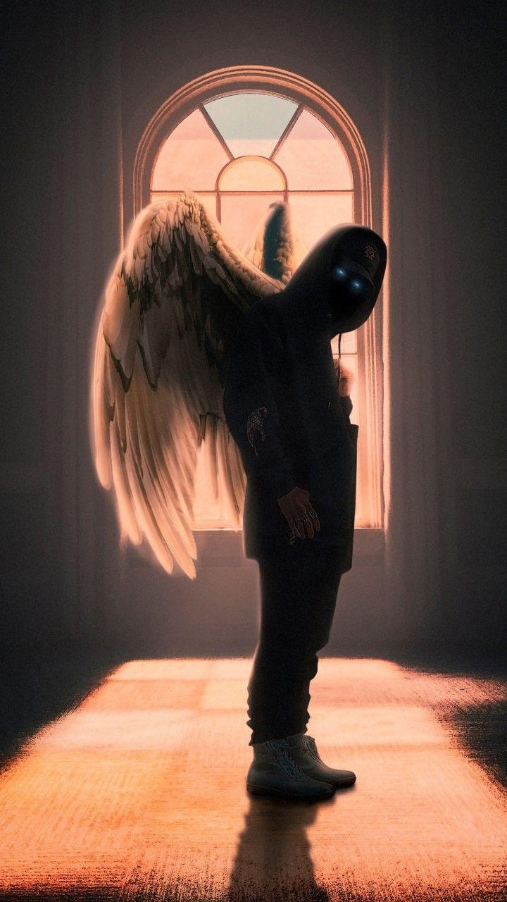 Hoodie Guy With Wings Artwork Fantasy Wallpapersgram Lion Sculpture Supreme Wallpaper Artwork Hd wallpaper black hoodie angel boy