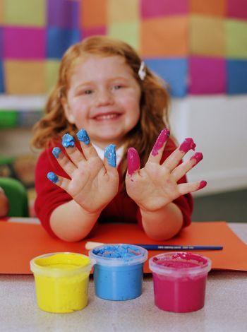 Pintura con los dedos o pintura dactilar