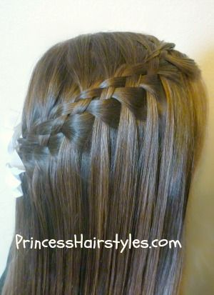 Five strand waterfall braid how to! So intricate. Apparently need to start practicing! I'm amazed