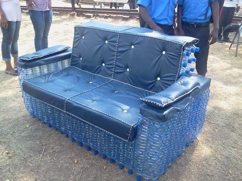 Water Bottle Used To Make Sofa