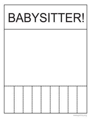 Babysitting Flyer                                                       …                                                                                                                                                                                 More