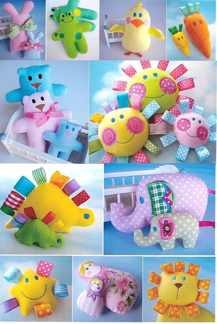 ITH Machine Embroidery Design Set - Toy Softies In The Hoop - Eleven Designs - Assorted Sizes. $29.99, via Etsy.