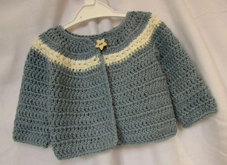VERY EASY crochet cardigan / sweater / jumper tutorial - baby and child ... ༺✿ƬⱤღ  http://www.pinterest.com/teretegui/✿༻