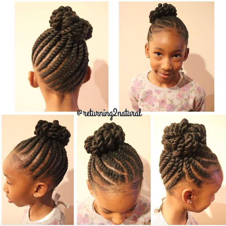 Kids Hairstyles For Girls top 100 cute girls hairstyles herinterestcom Love This Kid Friendly Protective Style Via Returning2natural Httpcommunity