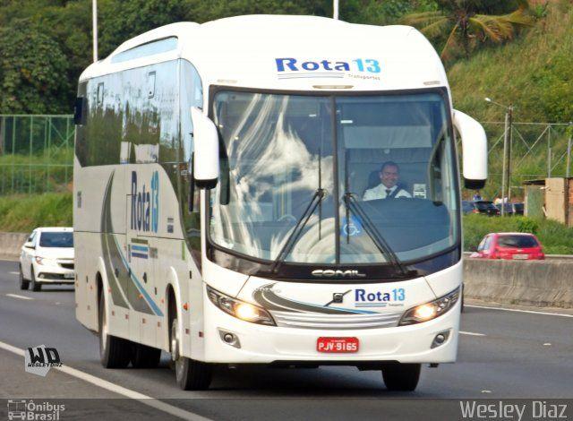Ônibus da empresa Rota 13 Transportes e Serviços, carro 1316, carroceria Comil Campione Invictus 1200, chassi Volvo B340R. Foto na cidade de Salvador-BA por Wesley Diaz, publicada em 31/10/2016 18:55:02.