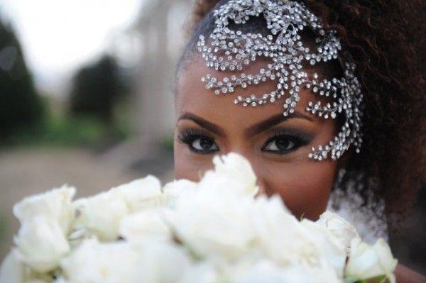 natural hair wedding styles: Ideas, Head Pieces, Bridal Headpieces, Wedding, Hairs, Crystals Faces, Hair Accessories, Natural Hair Brides, Bridal Style