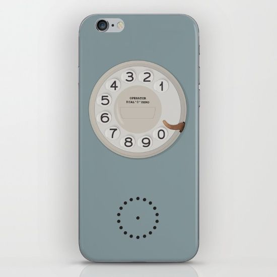 Vintage Dial Phone Blue iPhone & iPod Skin