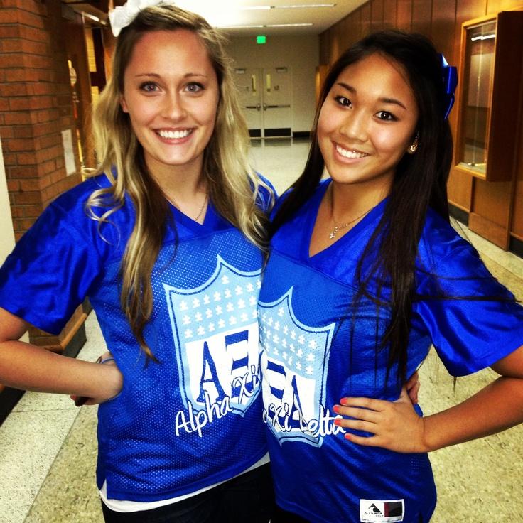 Football FrenXi jerseys. #AutismSpeaks #AlphaXiDelta
