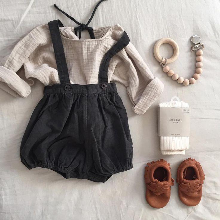 Bewaar voor later: de leukste outfit voor meisjes, vintage geïnspireerde romper lederen moc
