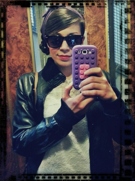 On a Saturday afternoon...leather jacket and sunglasses ★