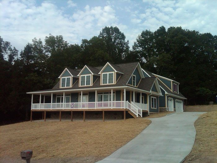 Custom cape cod style modular home on norris lake in tn for Modified cape cod house plans