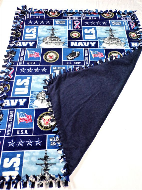 US Navy Blanket  Navy Mom  Navy Girlfriend  Navy Veteran
