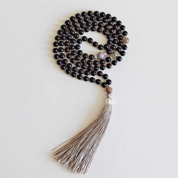 Enlightenment Mala - Black Onyx