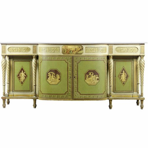 A George III 'D' fronted side cabinet<br>circa 1790 | lot | Sotheby's